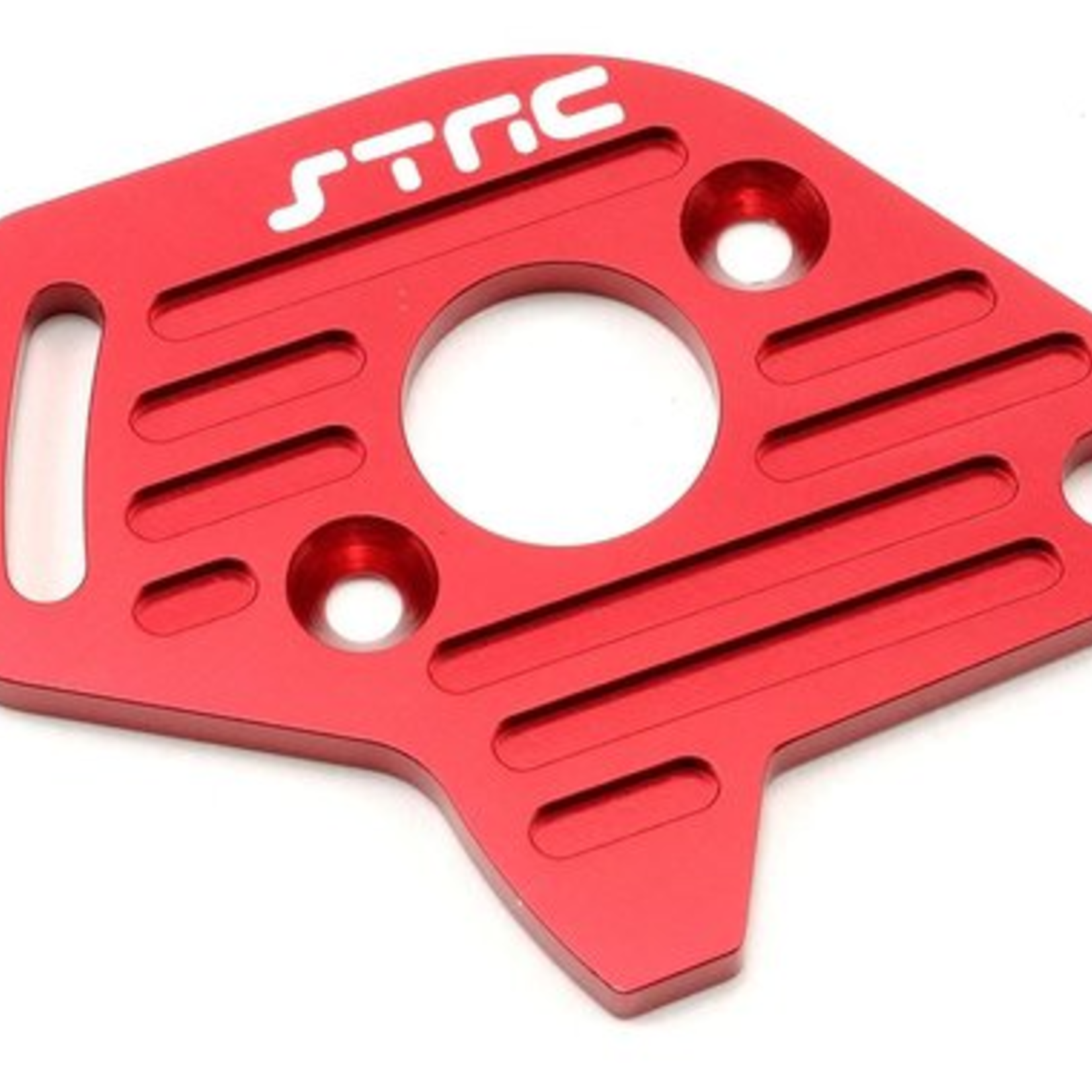 ST Racing Concepts SPTST6890R ST Racing Concepts Alum Heat Sink Finned Motor Plate For Slash 4X4 (Red)