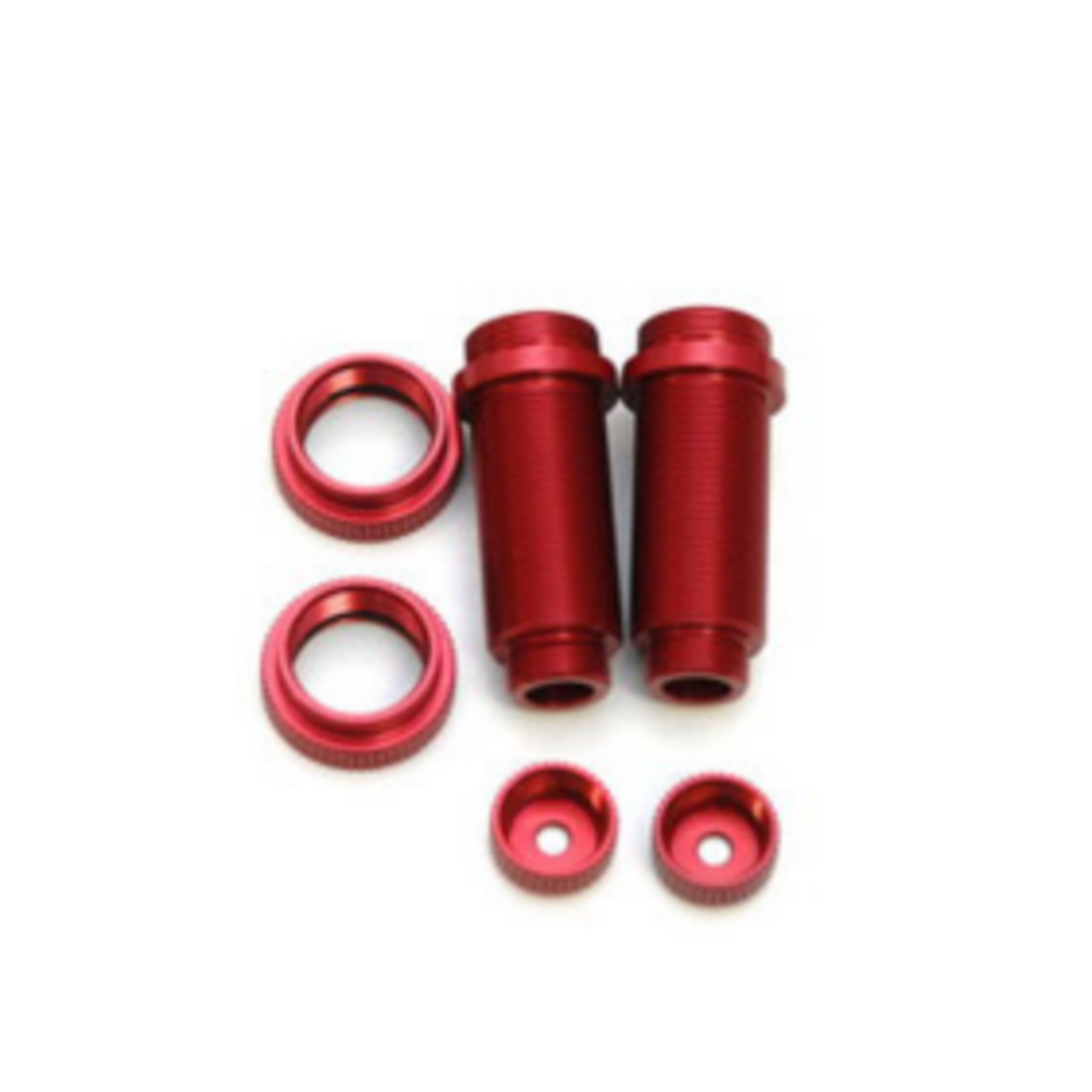 ST Racing Concepts SPTST3765XR ST Racing Concepts Aluminum Threaded Front Shock Body Set (Red) (2) (Slash)