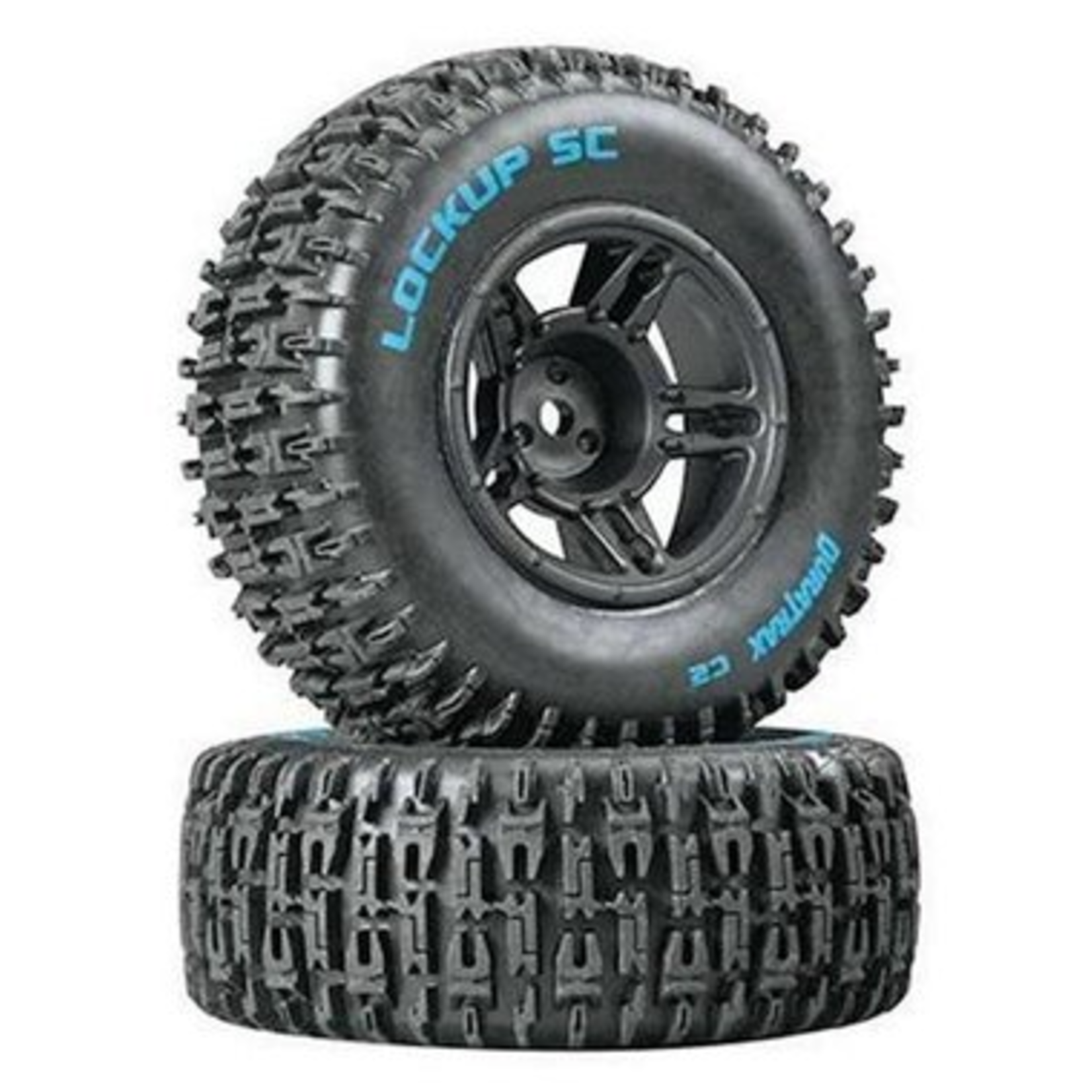 Duratrax DTXC3670 Duratrax Lockup SC Tire C2 Mounted Black Front Slash(2)