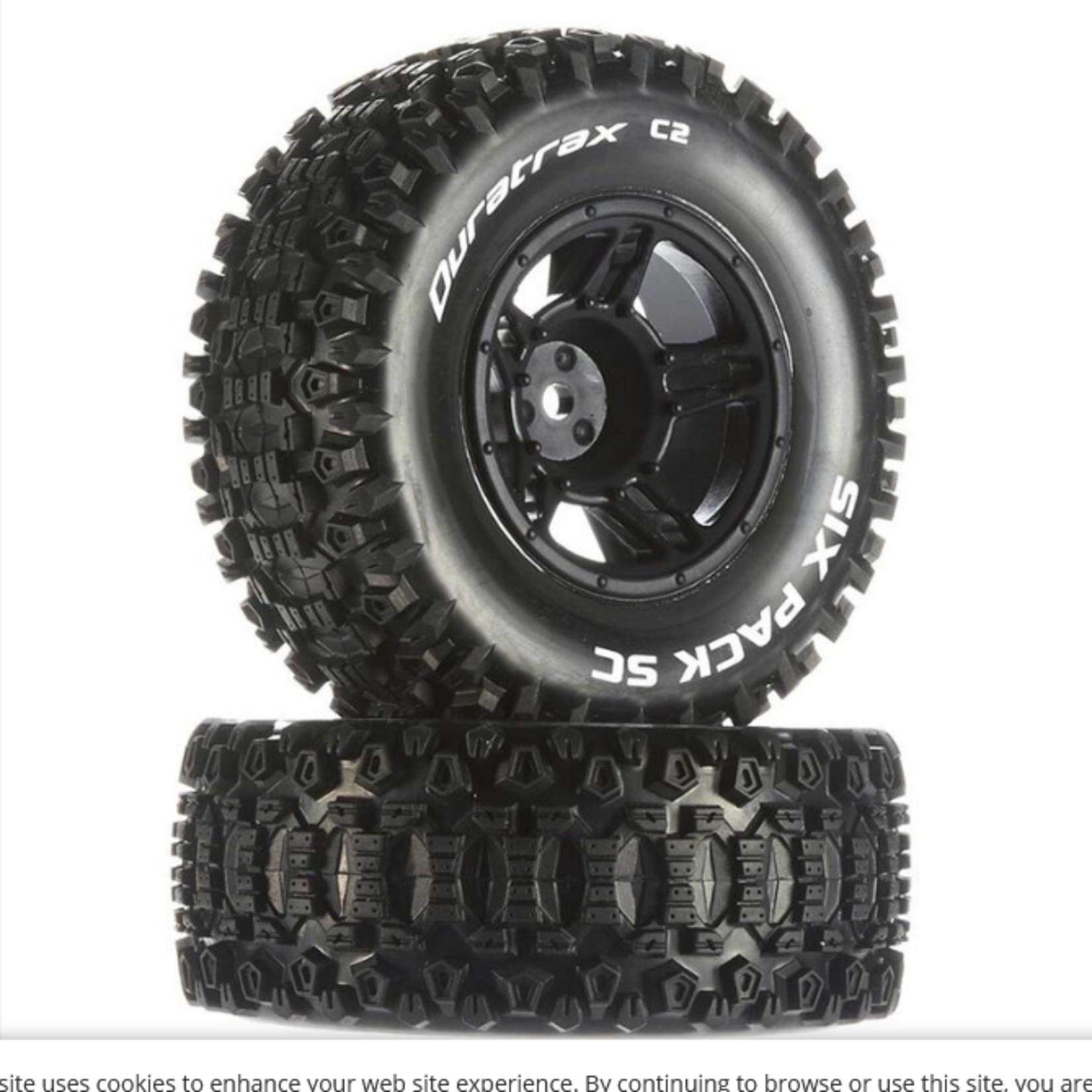 Duratrax DTXC3860 Duratrax Six-Pack SC C2 Mounted Tires: Traxxas Slash Front (2)