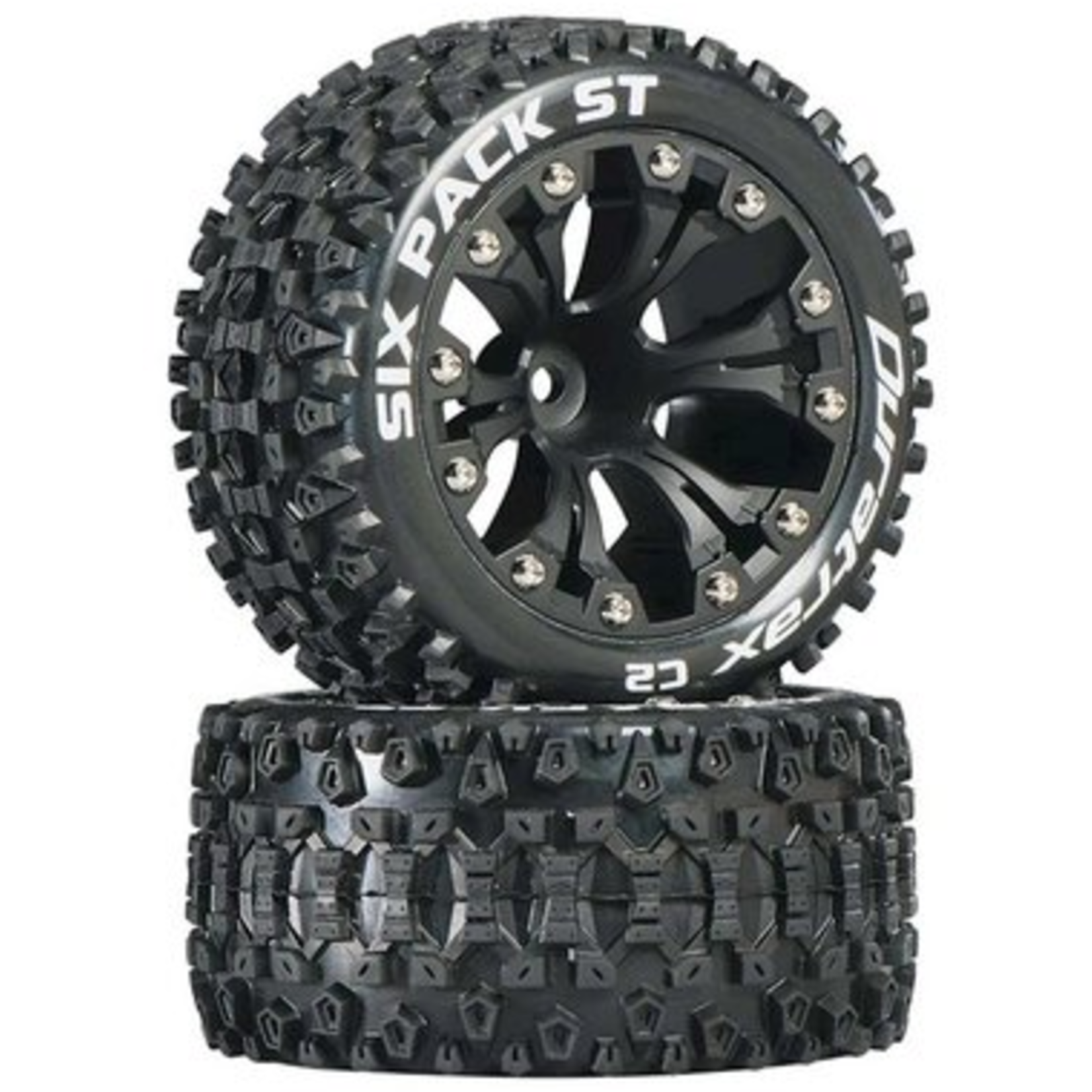 Duratrax DTXC3562 Duratrax Six Pack ST 2.8 2WD Mounted 1/2'' Offset Blk (2)