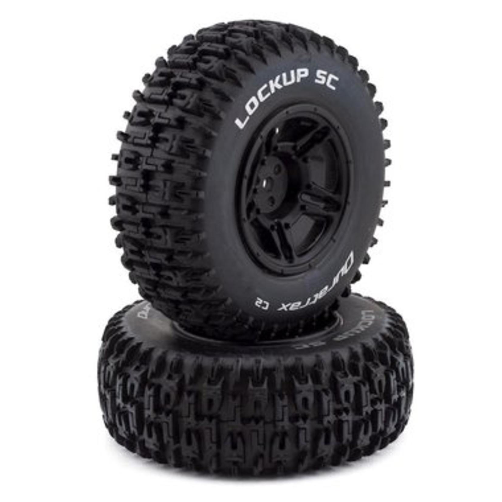 Duratrax DTXC3671 Duratrax Lockup SC Tire C2 Mounted Black Rear Slash (2)
