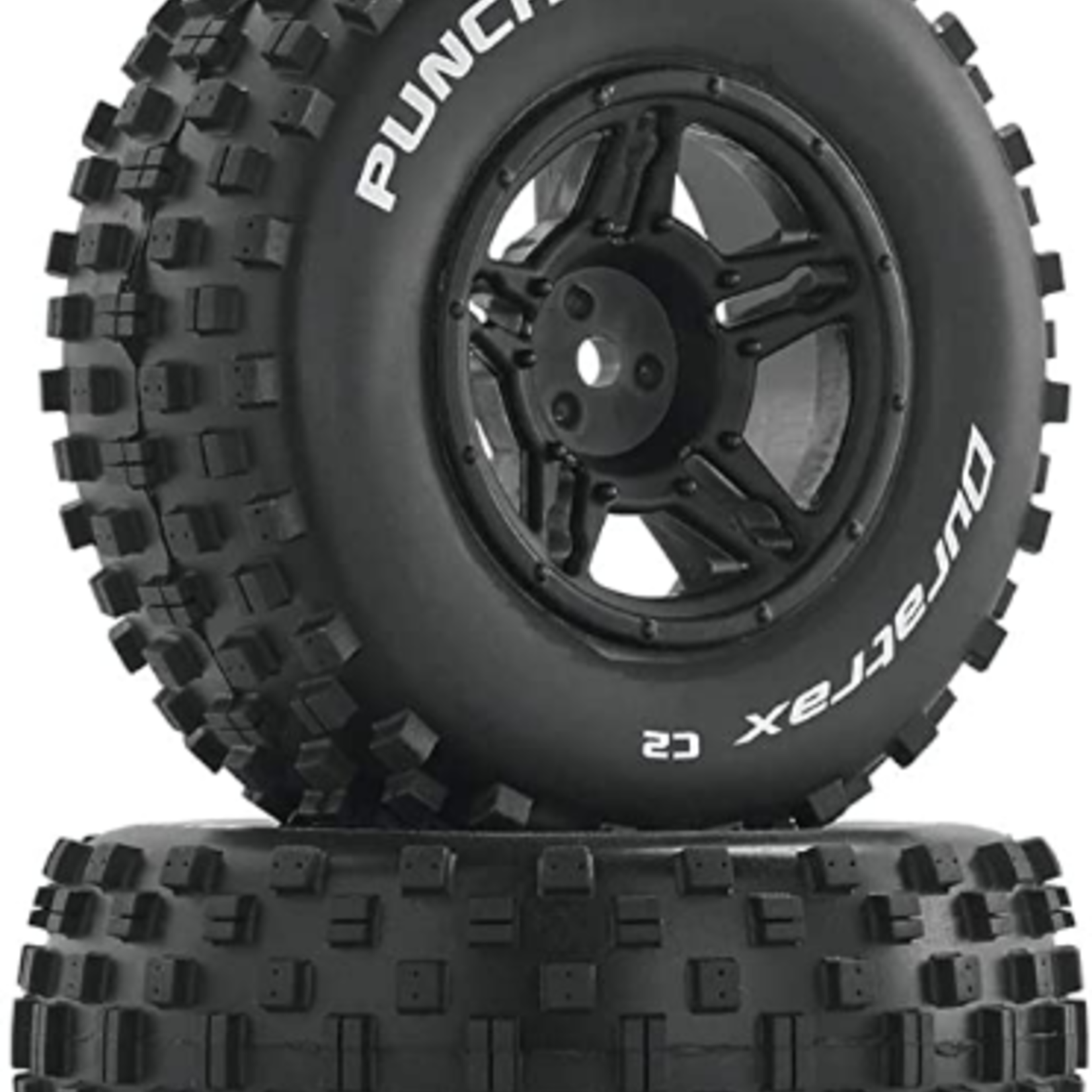 Duratrax DTXC3705 Duratrax Punch SC C2 Front Rear Mounted Tires: Slash 4x4 Blitz (2)