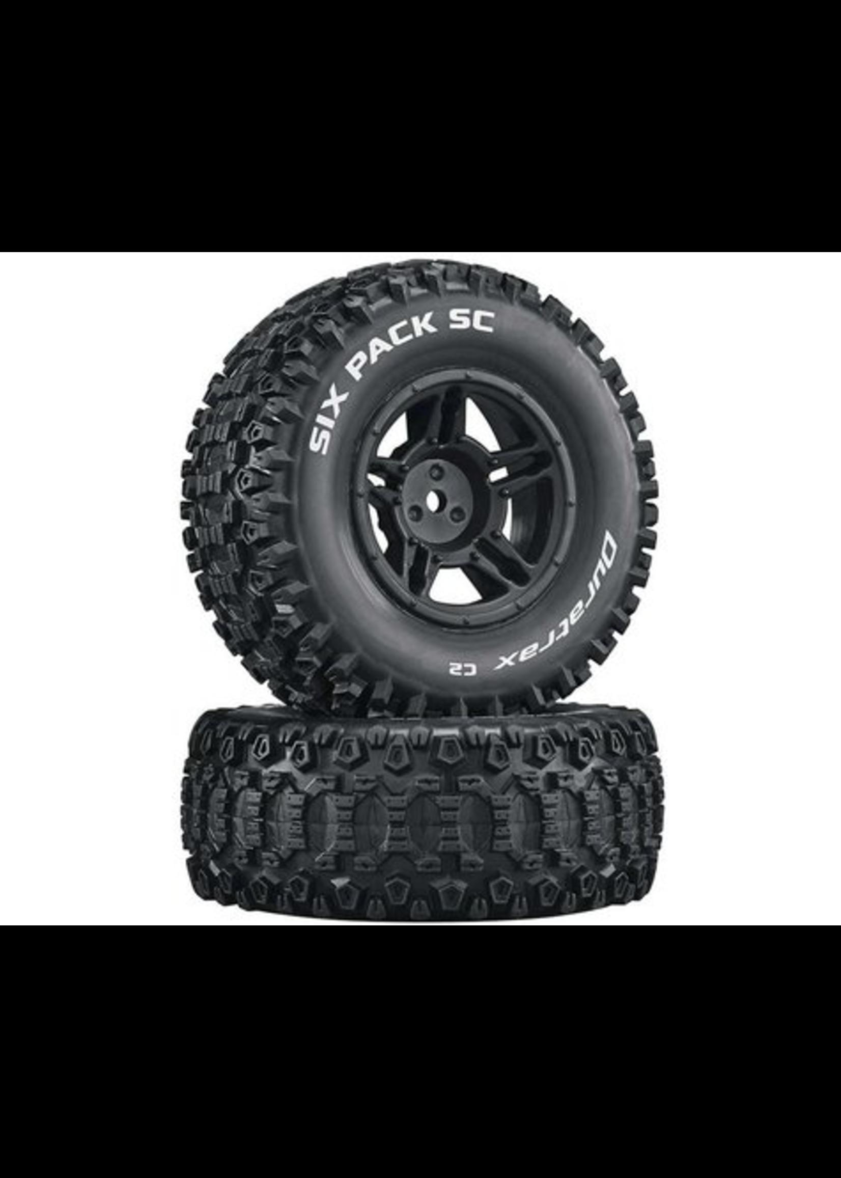 Duratrax DTXC3861 Duratrax Six-Pack SC C2 Mounted Tires: Slash 4x4 Blitz Front Rear (2)