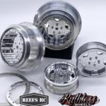Reefs RC SEHREEFS81 Reefs RC Tidal Beadlock Drag Wheels w/ Rings and Hardware (4pcs)
