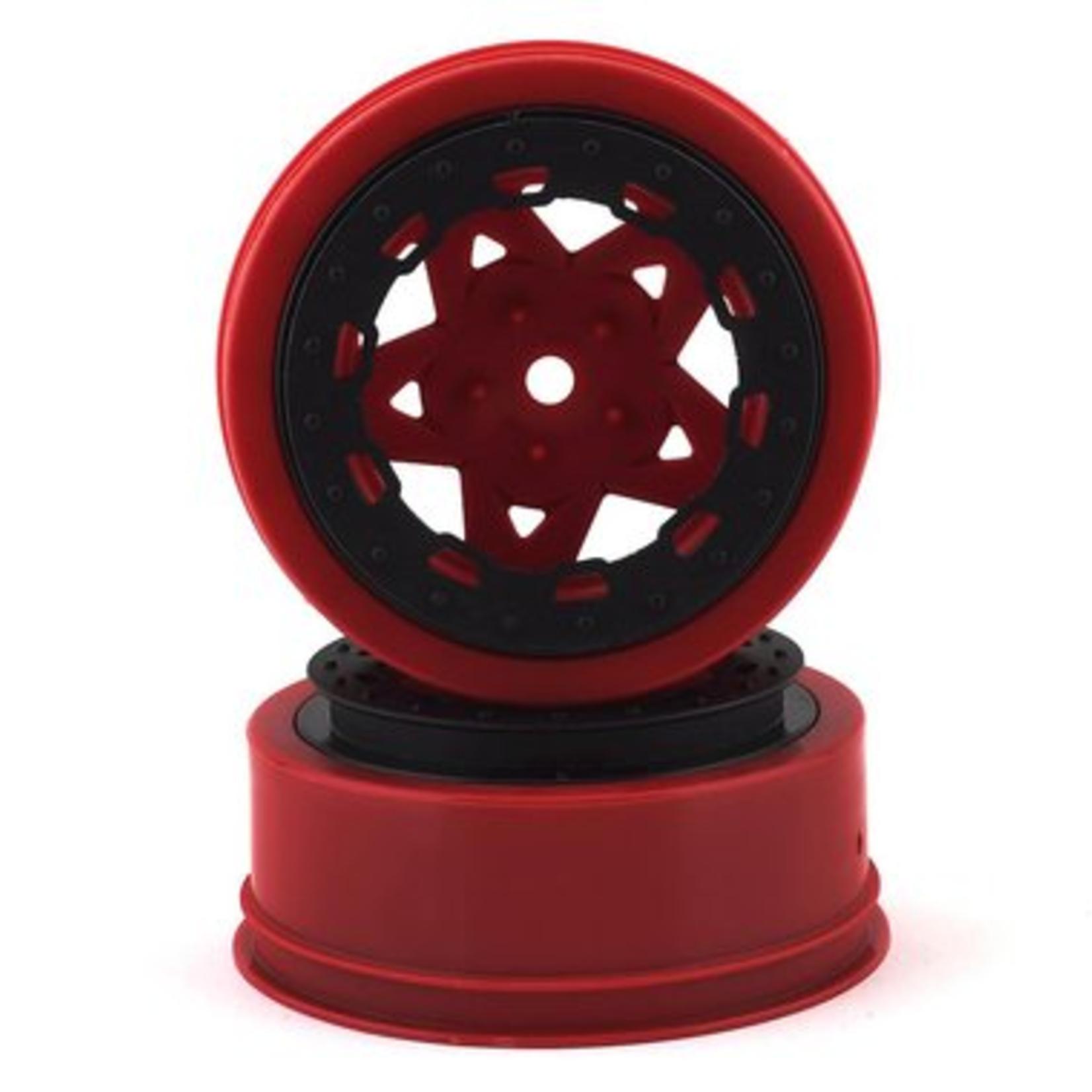 JConcepts JCO3390RB JConcepts Tremor Slash narrow front wheel-RED/BLK BDLCK (2)