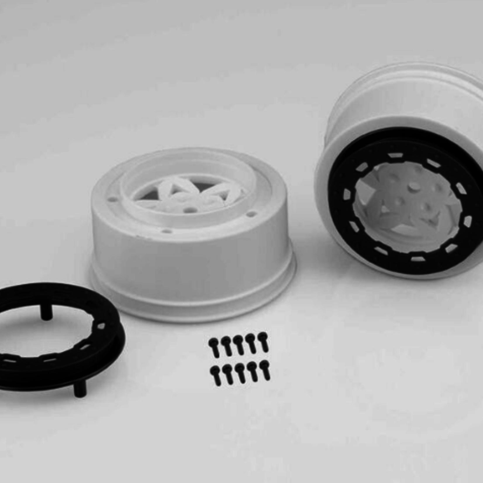 JConcepts JCO3391WB JConcepts Tremor SLH Rr/SLH 4x4 F/R wheel-WHT/BLK BDLCK (2)
