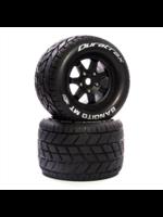 "Duratrax DTXC5626 Duratrax Bandito MT Belt 3.8"" Mounted Front/Rear Tires 0 Offset 17mm, Black (2)"