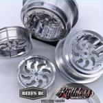 Reefs RC SEHREEFS80 Reefs RC Kahuna Beadlock Drag Wheels w/ Rings and Hardware (4pcs)