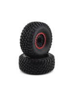 Traxxas TRA8474 Traxxas Tires and wheels, assembled, glued (Method Race Wheels, black with red beadlock, BFGoodrich Baja KR3 tires) (2)