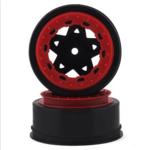 JConcepts JCO3390BR JConcepts Tremor Slash narrow front wheel-BLK/RED BDLCK (2)