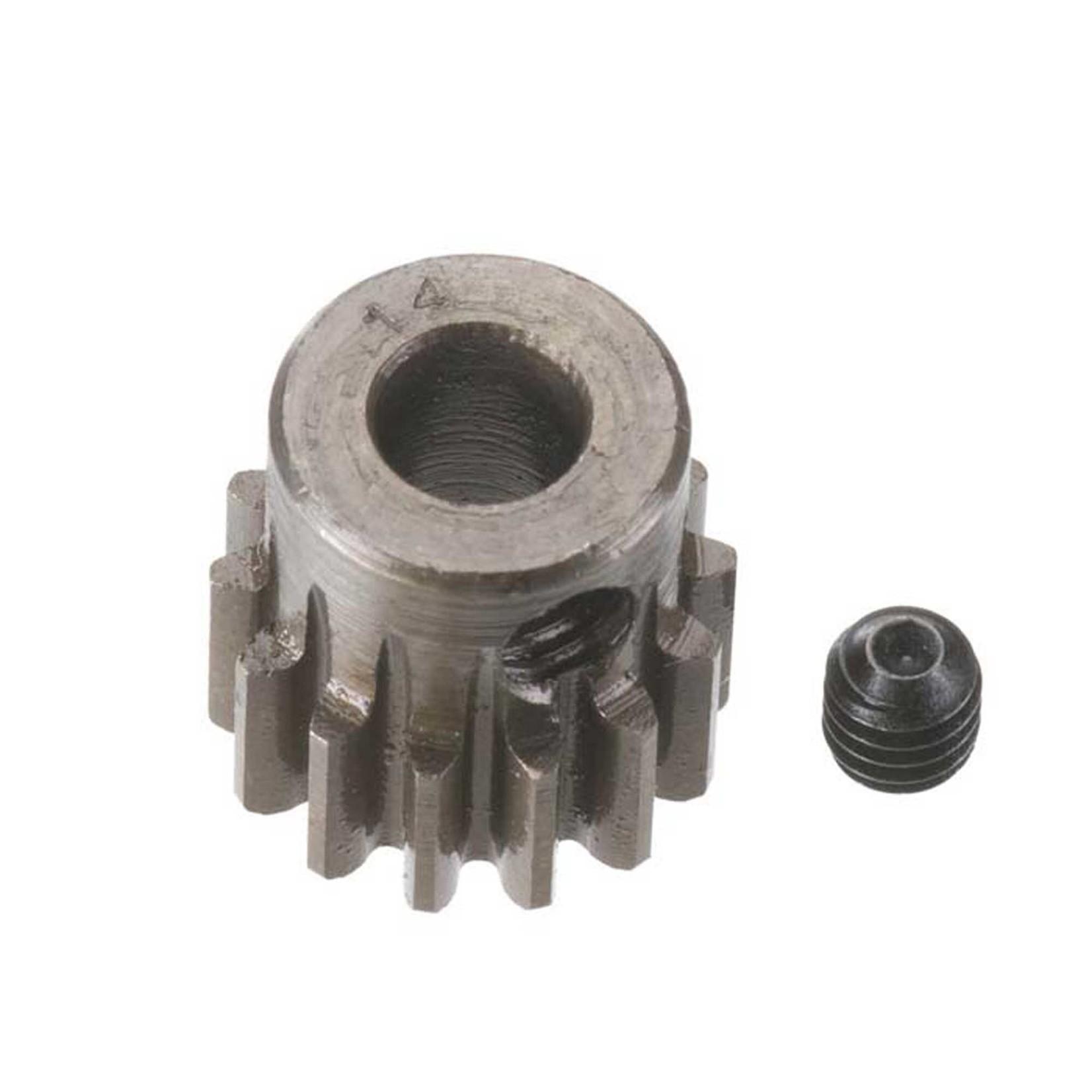 Robinson Racing Products RRP8714 Robinson Racing Extra Hard Steel .8 Mod Pinion Gear w/5mm Bore (14T)