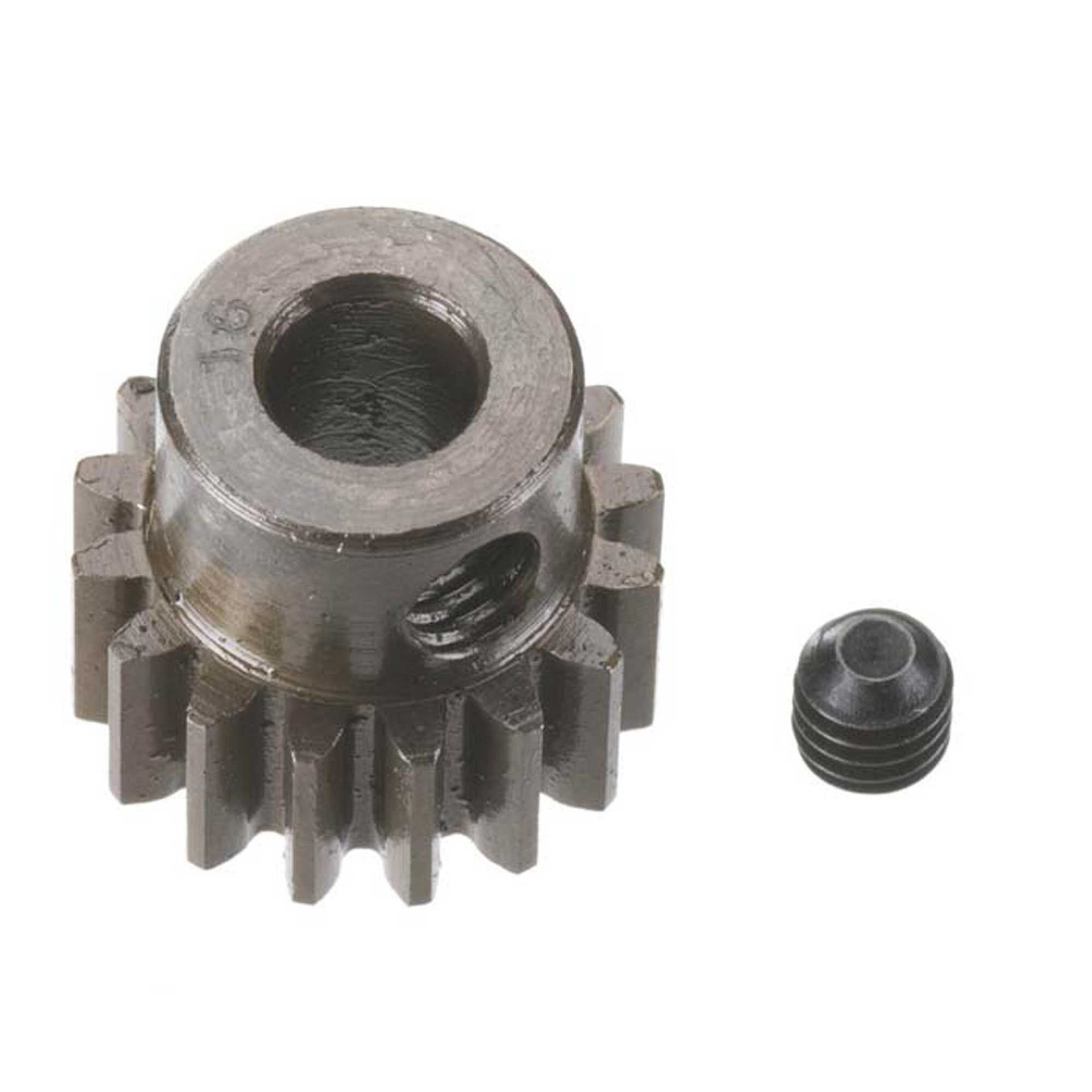 Robinson Racing Products RRP8716 Robinson Racing Extra Hard Steel .8 Mod Pinion Gear w/5mm Bore (16T)