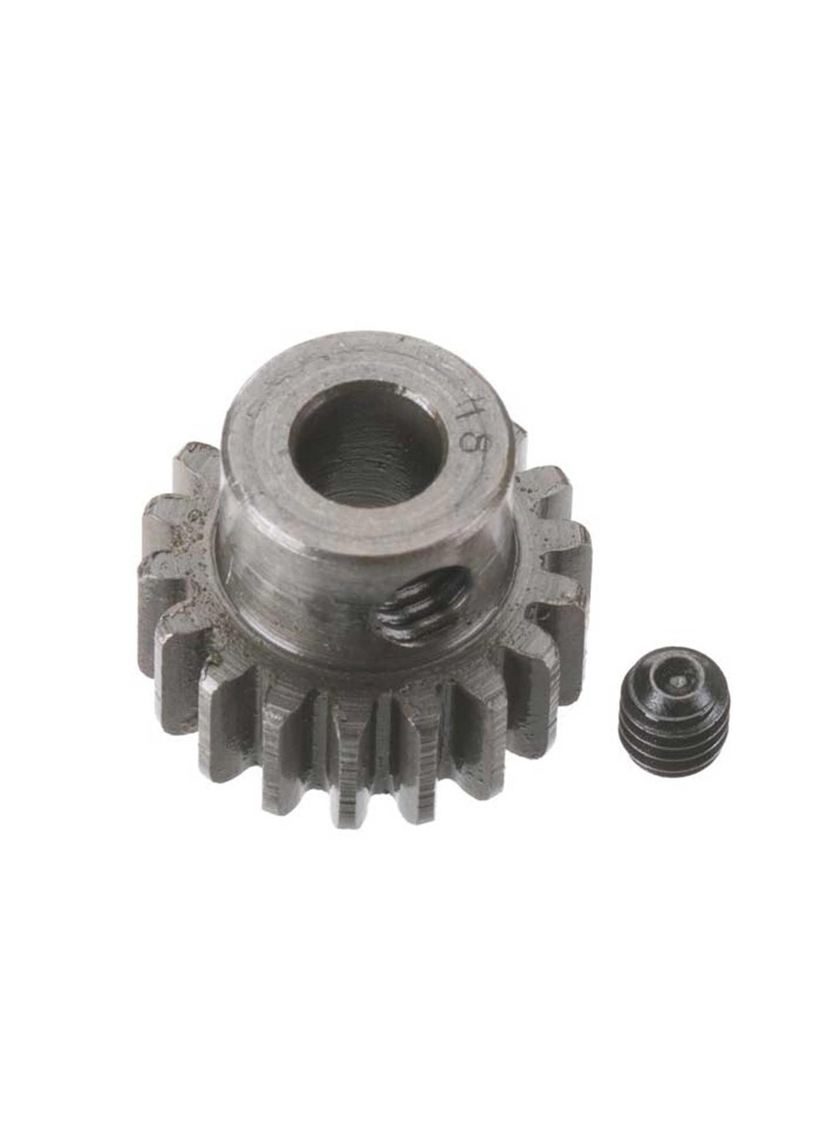 Robinson Racing Products RRP8718 Robinson Racing Extra Hard Steel .8 Mod Pinion Gear w/5mm Bore (18T)