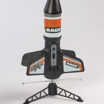 Rage RC RGR4131B Rage Spinner Missile X Electric Free-Flight Rocket Black