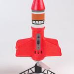 Rage RC RGR4131R Rage Spinner Missile X Electric Free-Flight Rocket Red