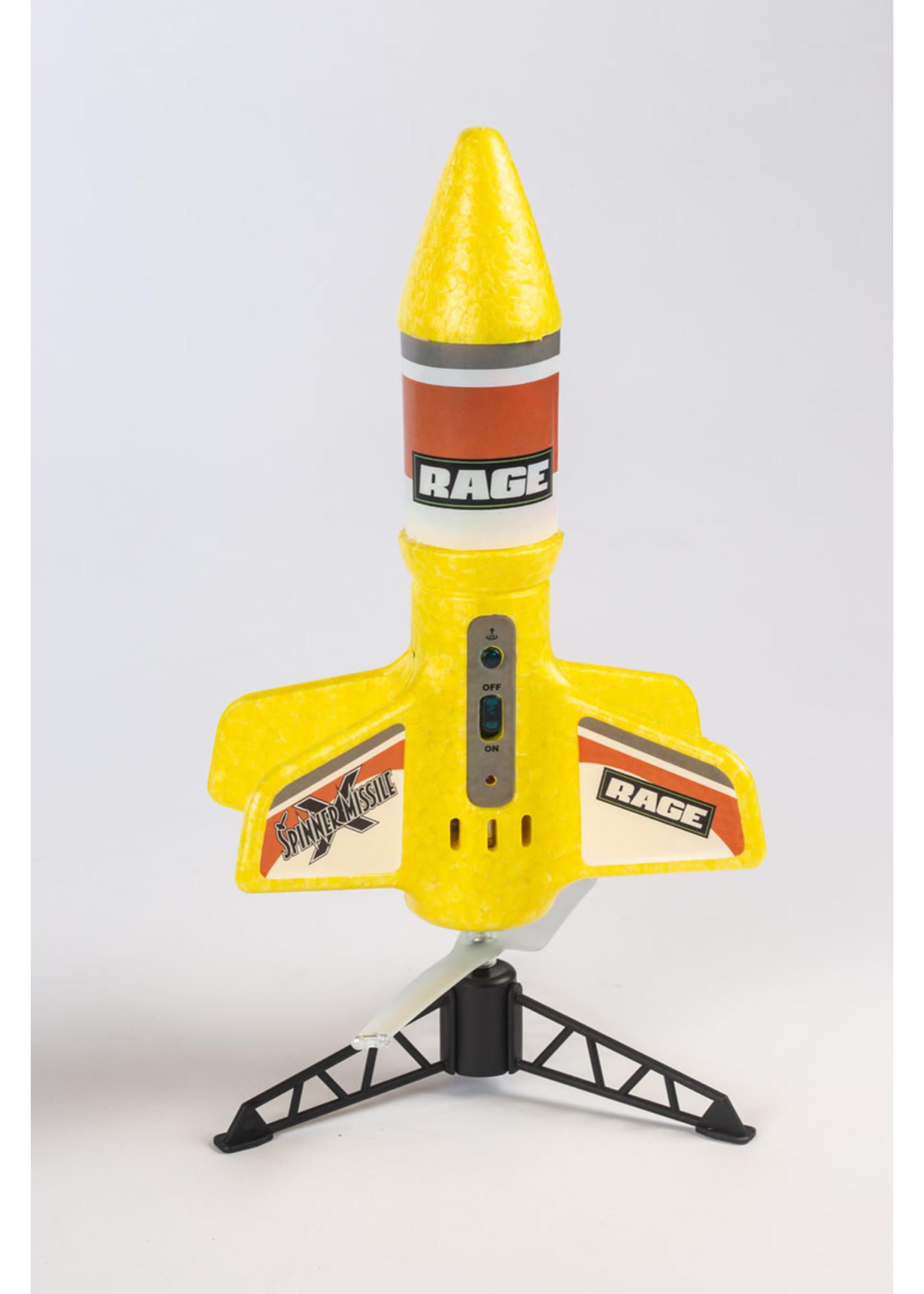 Rage RC RGR4131Y Rage Spinner Missile X Electric Free-Flight Rocket Yellow