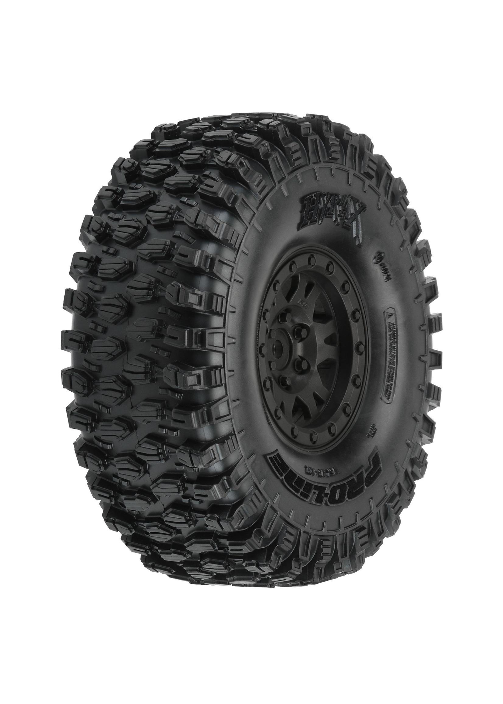 Pro-Line Racing PRO1012810 Pro-Line Hyrax 1.9 G8 Mtd Impulse Black Whls (2)