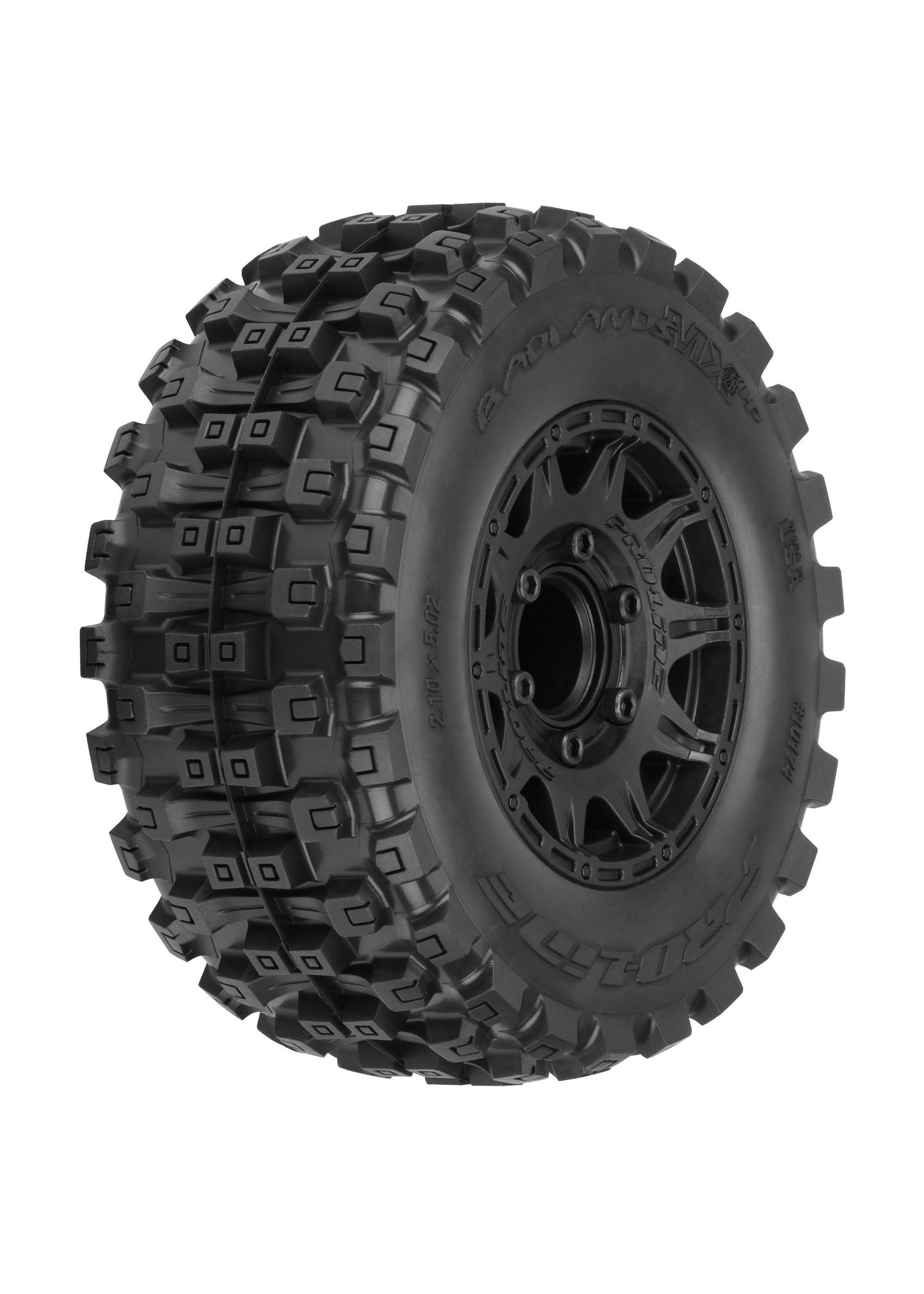 "Pro-Line Racing PRO1017410 Pro-Line Badlands MX28 HP 2.8"" BELTED MTD Raid 6x30 F/R"