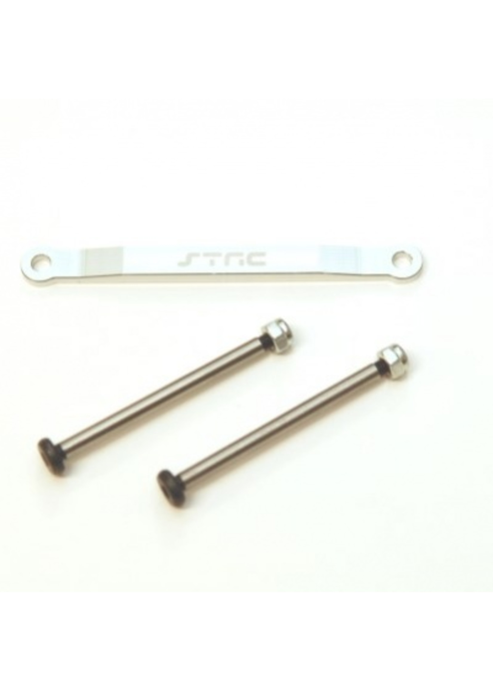 ST Racing Concepts SPTST2532XS ST Racing Concepts CNC Aluminum Front Hingepin Brace Kit, w/Lock-nut STyle Hingepins (Silver)