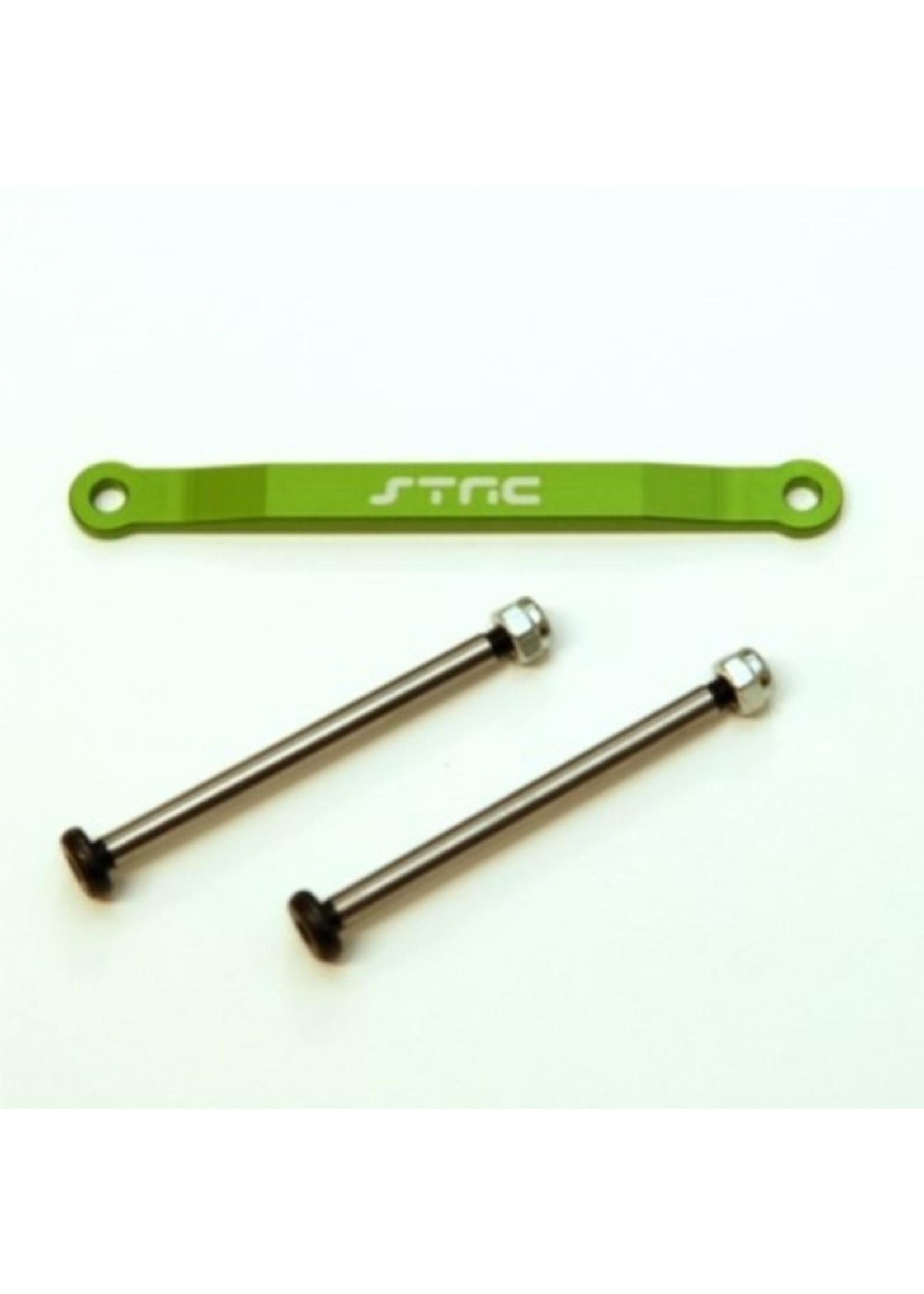 ST Racing Concepts SPTST2532XG ST Racing Concepts CNC Aluminum Front Hingepin Brace Kit, w/Lock-nut Style Hingepins (Green)