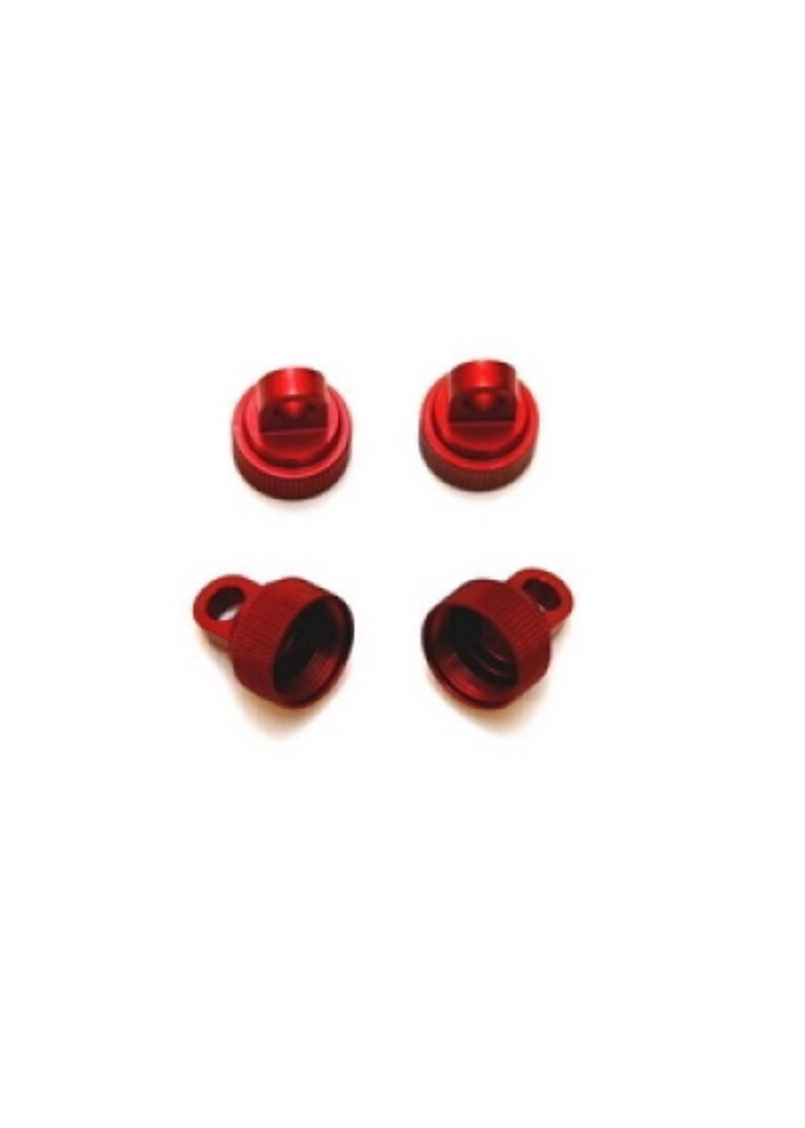 ST Racing Concepts SPTST3767R ST Racing Concepts CNC Machined Aluminum Upper Shock Caps-Traxxas 4pc (Red)