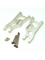ST Racing Concepts SPTST3631XS ST Racing Concepts Heavy Duty Front Suspension Arms Kit w/ Lock-Nut Hinge-Pins, for Traxxas Rustler/Stampede (Silver)