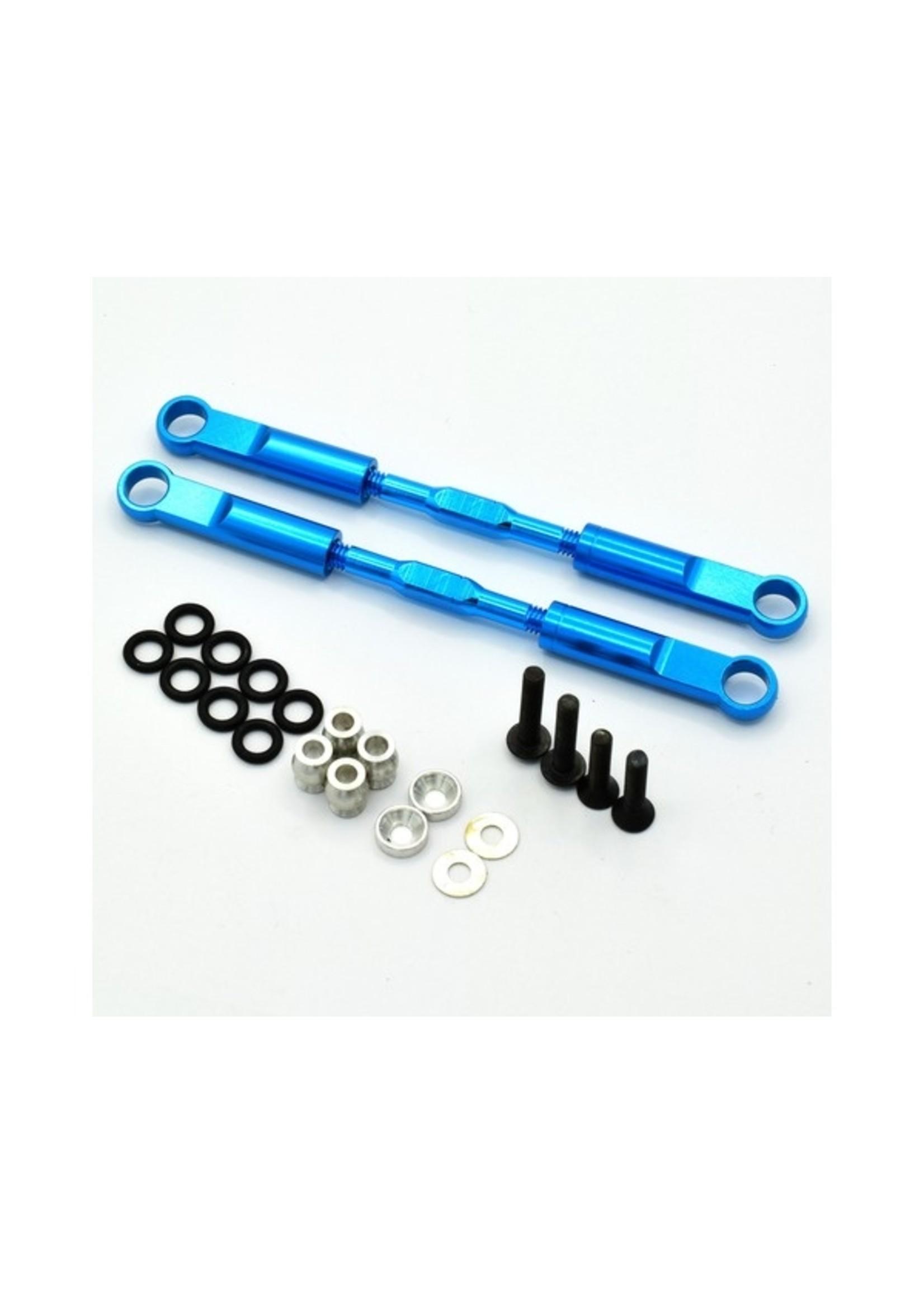 Hot Racing HRAECT5706 Hot Racing Blue Aluminum 89mm Rear Turnbuckles