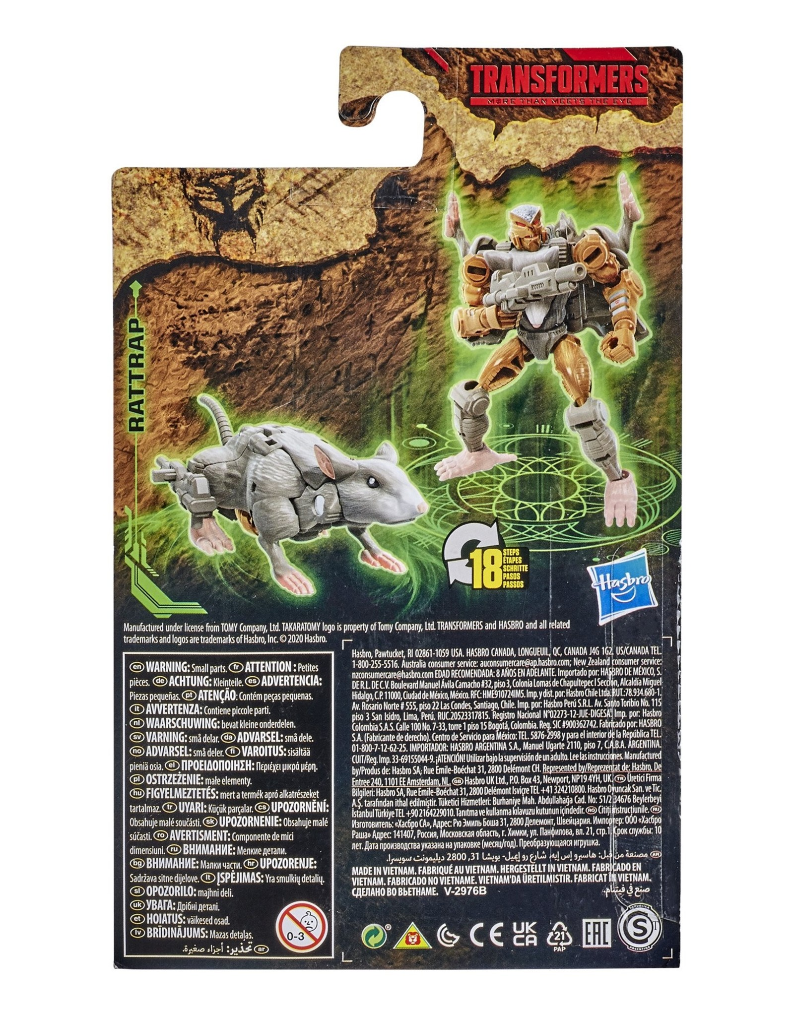 HASBRO Transformers Generations War for Cybertron: Kingdom Core Class WFC-K2 Rattrap