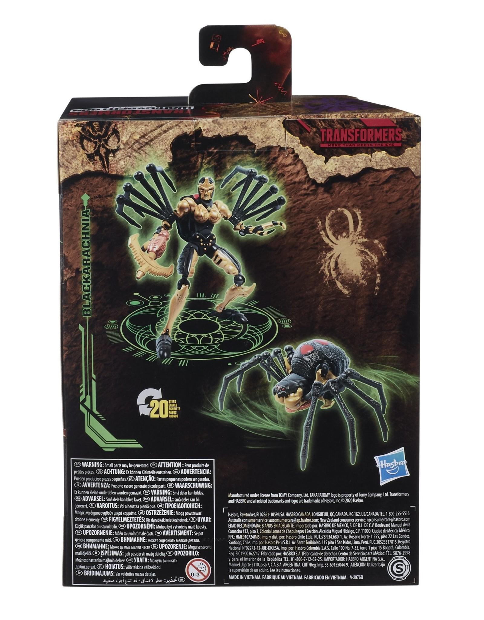 HASBRO Transformers Generations War for Cybertron: Kingdom Deluxe WFC-K5 Blackarachnia