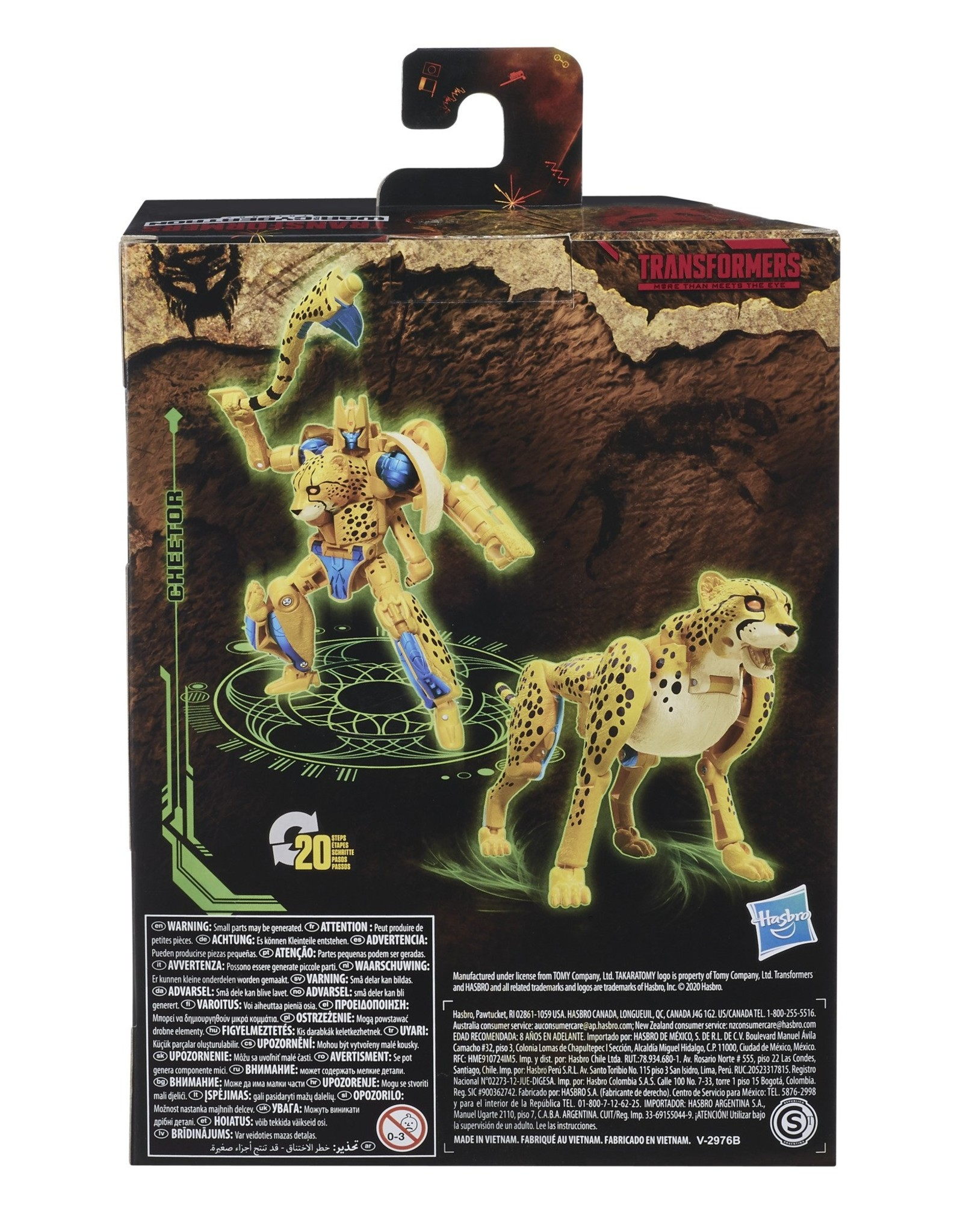 HASBRO Transformers Generations War for Cybertron: Kingdom Deluxe WFC-K4 Cheetor