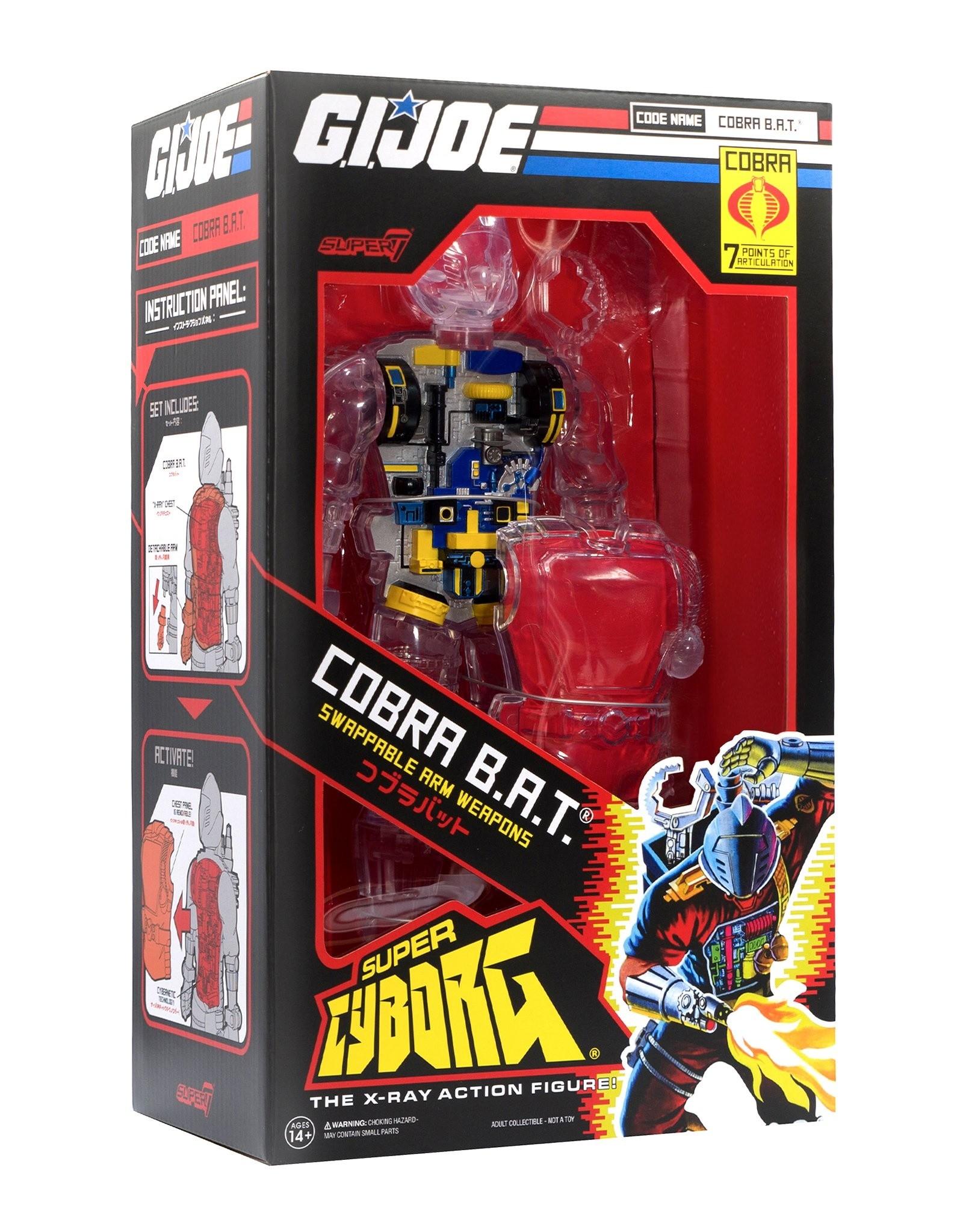 SUPER7 G.I. Joe: Cobra B.A.T. Super Cyborg (Clear Vinyl Figure) 2021