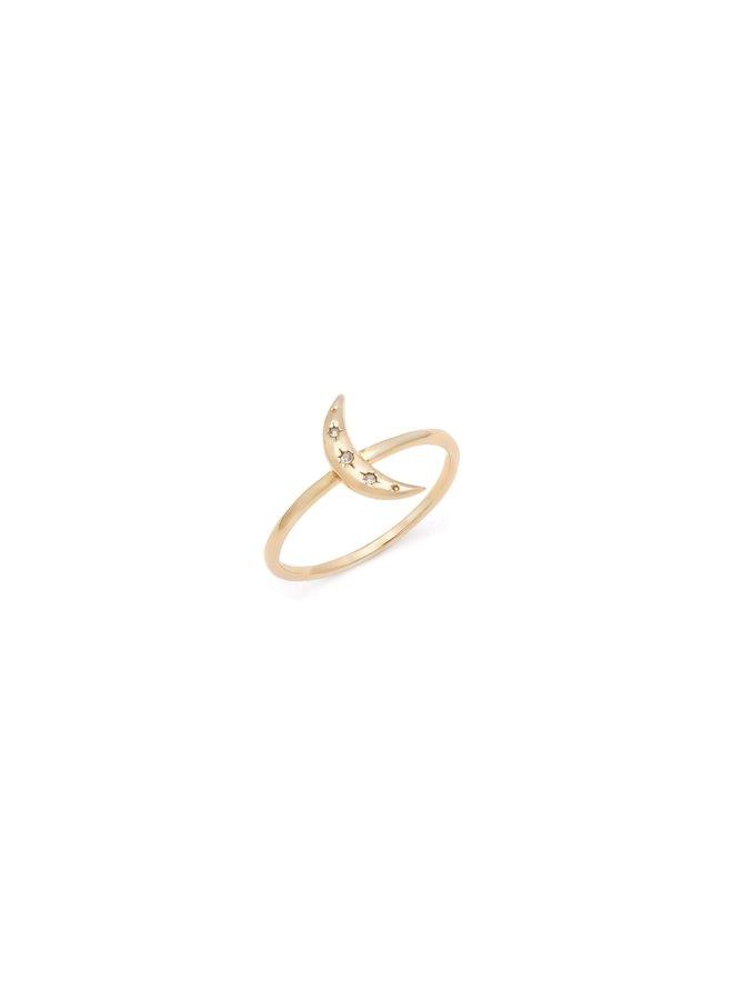Crescent Moon Ring MA152