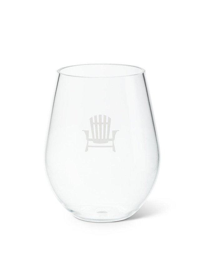 Stemless Simcoe Wine Goblet / Pool Friendly H05