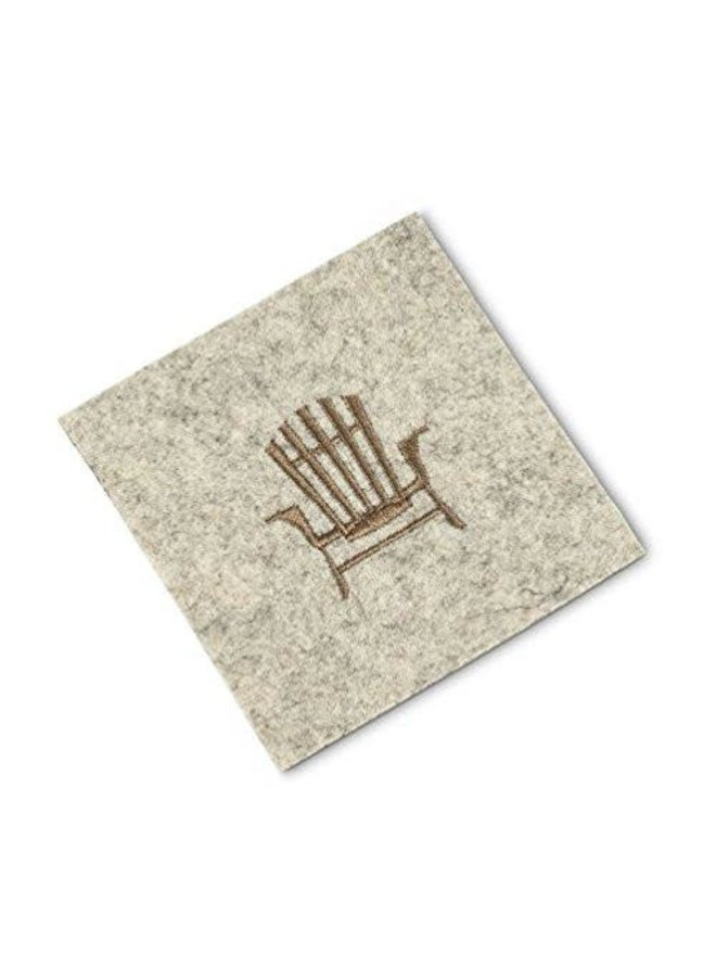 Cabin Coaster w Stitched Chair