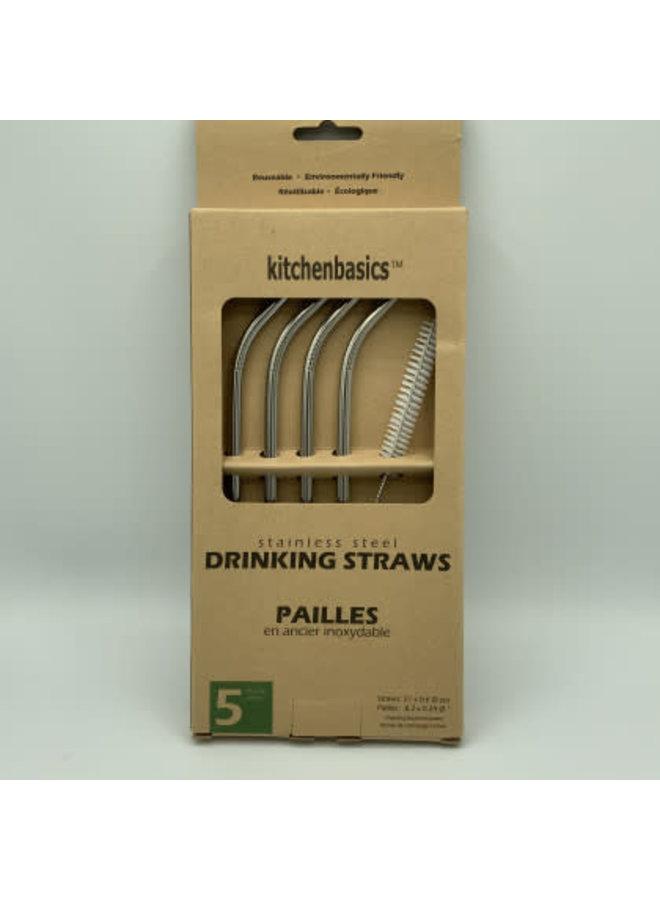 6 mm SS Straws w Brush