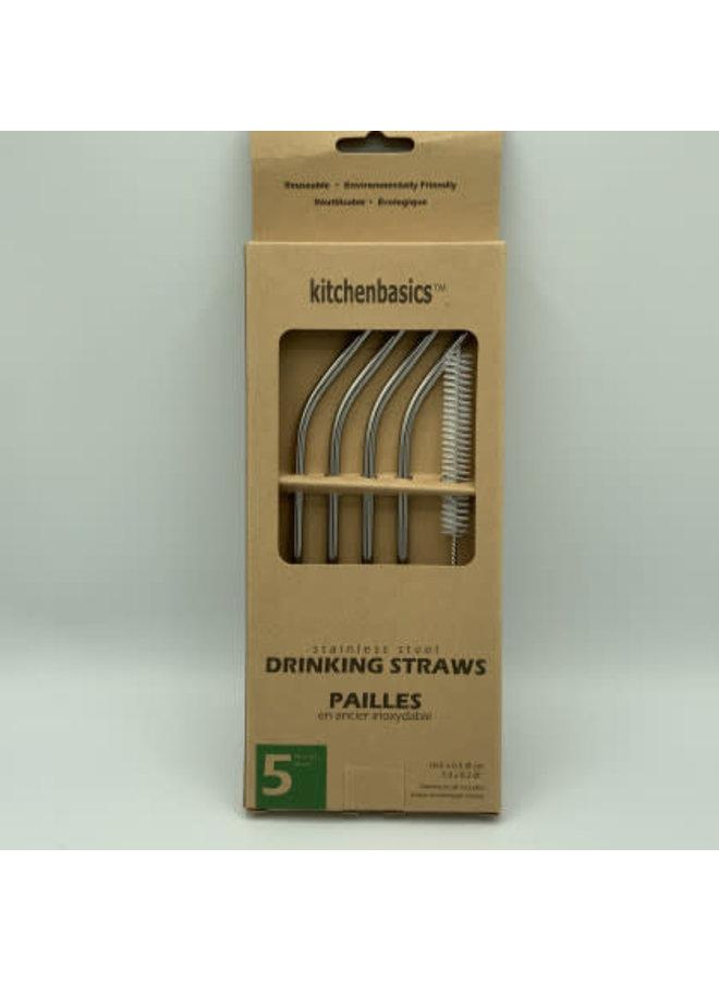5 mm SS Straws w Brush