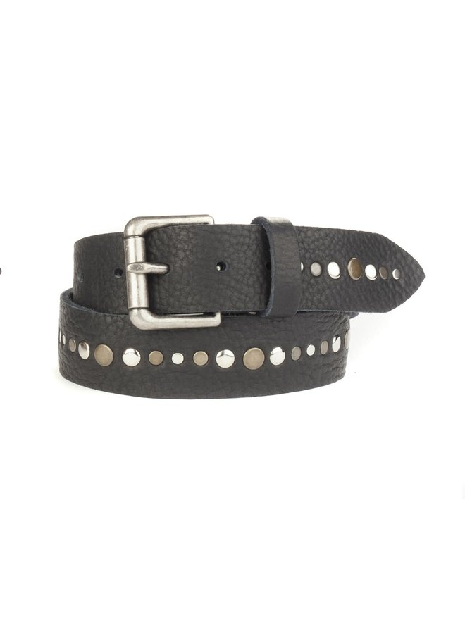 Linas Studded Belt / Raw Washed Leather
