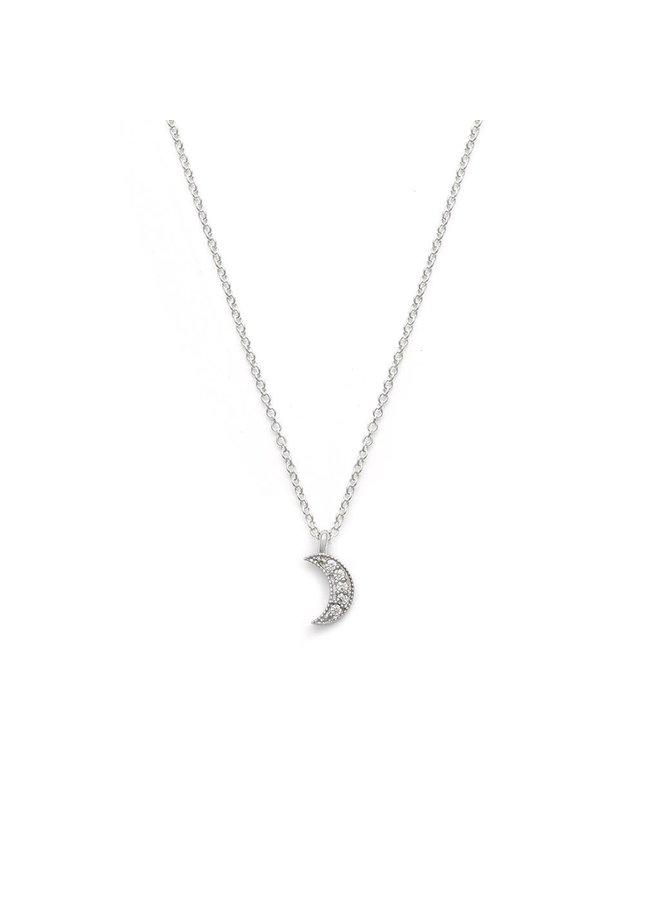 Luna Crescent Moon Necklace   LBS2