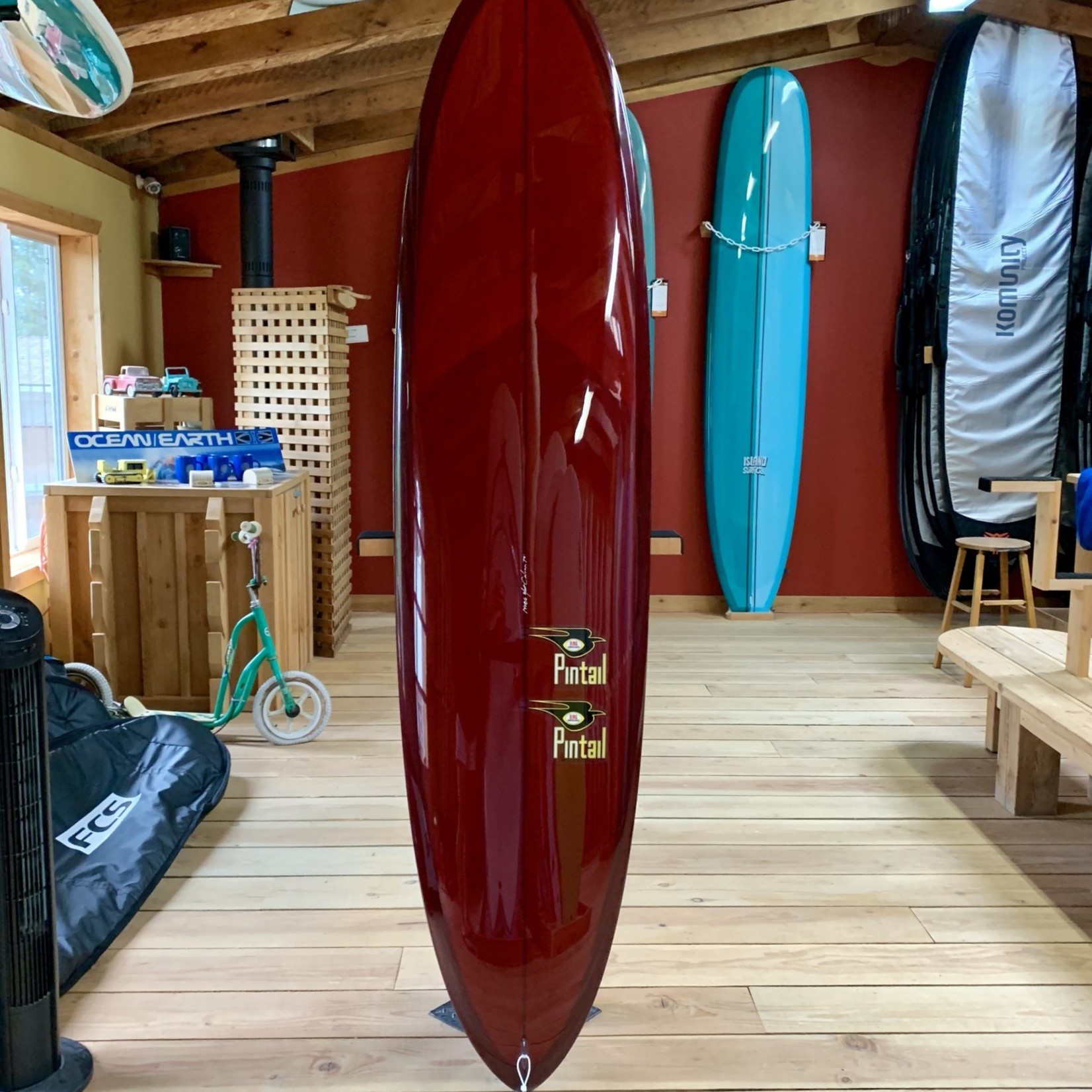 Bing Surfboards 7'8 Bing Pintail Mini Performance Surfboard.