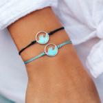 Pura Vida Jewelry Puravida Stone Wave Bracelet Silver
