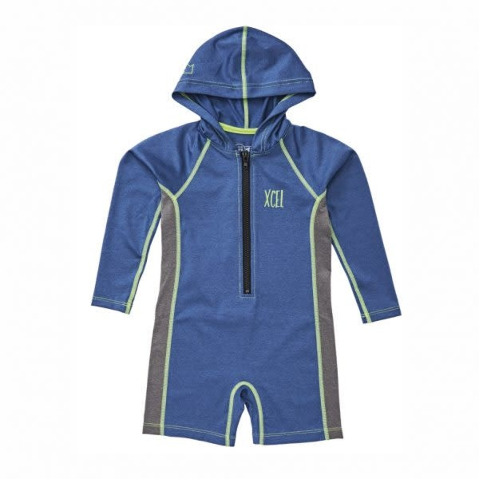 XCEL XCEL Toddler's Premium Stretch Unisex L/S Front Zip Hooded Springsuit.