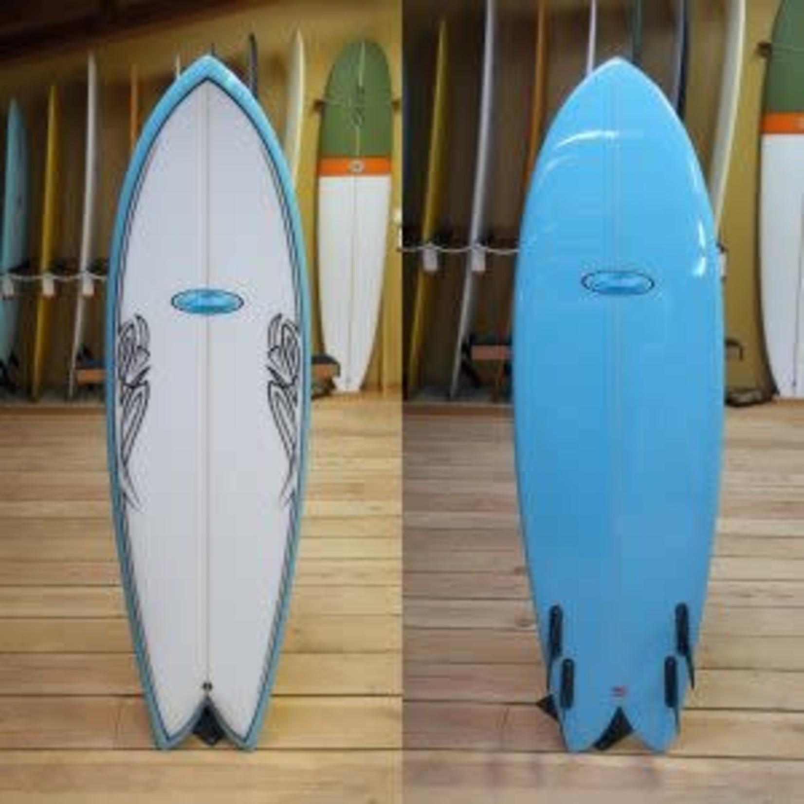 Stewart Surfboards 6'0 Stewart Retro Fish Quad Surfboard.