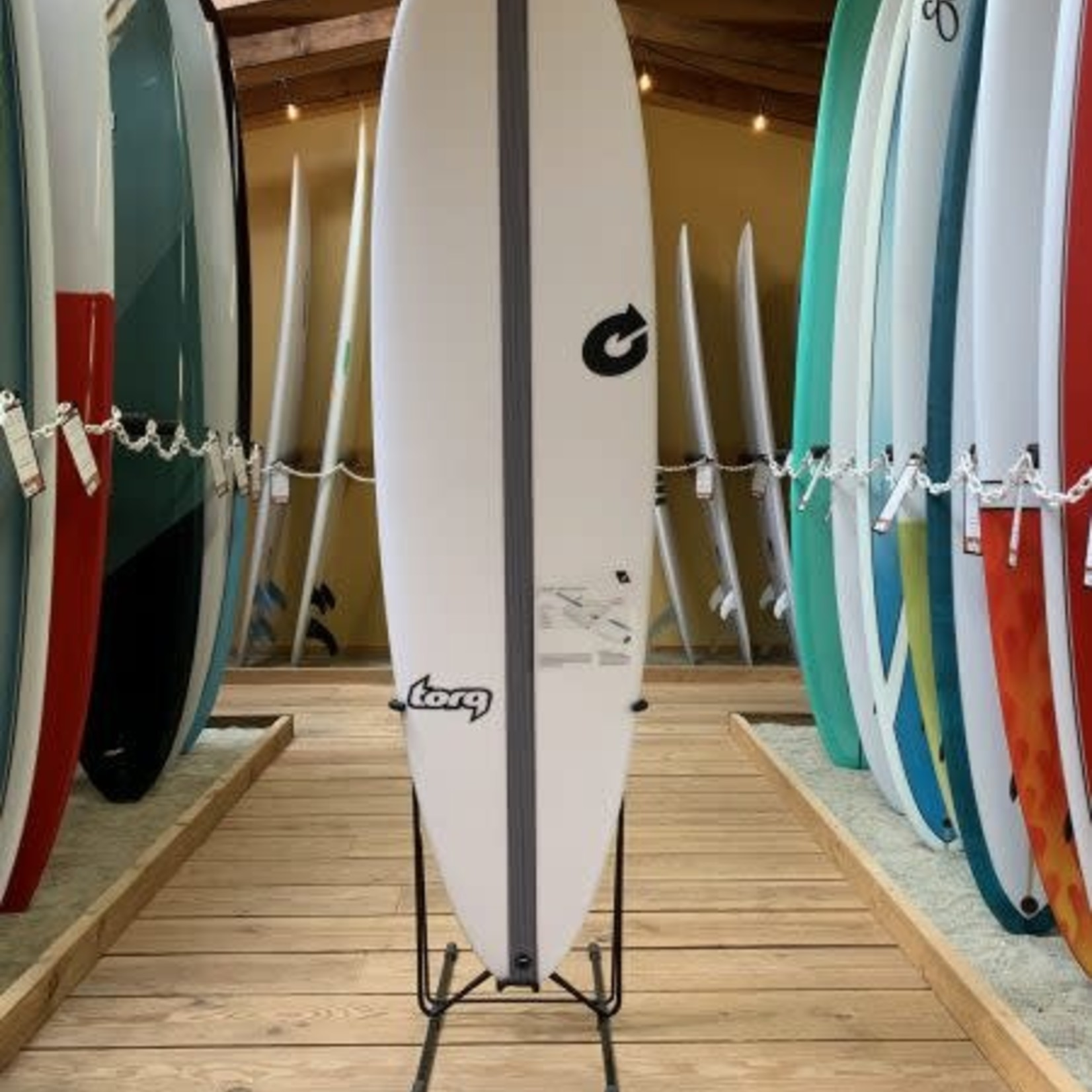 TORQ Surfboards 6'6 Torq TEC M2 white with carbon stringer.