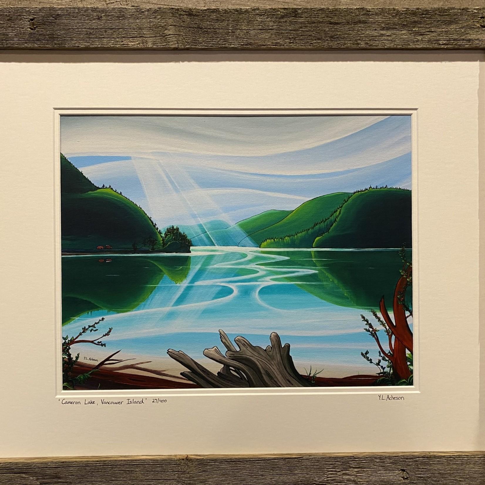"Yvonne Acheson ""Cameron Lake"" Framed Print"