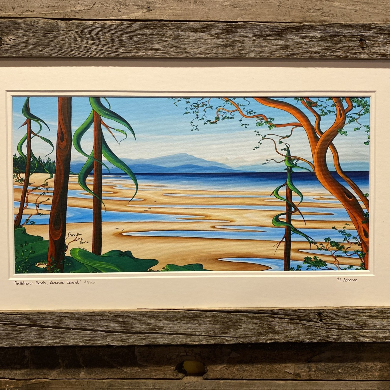 "Yvonne Acheson Yvonne Acheson ""Rathtrevor Beach"" Large Framed Print"