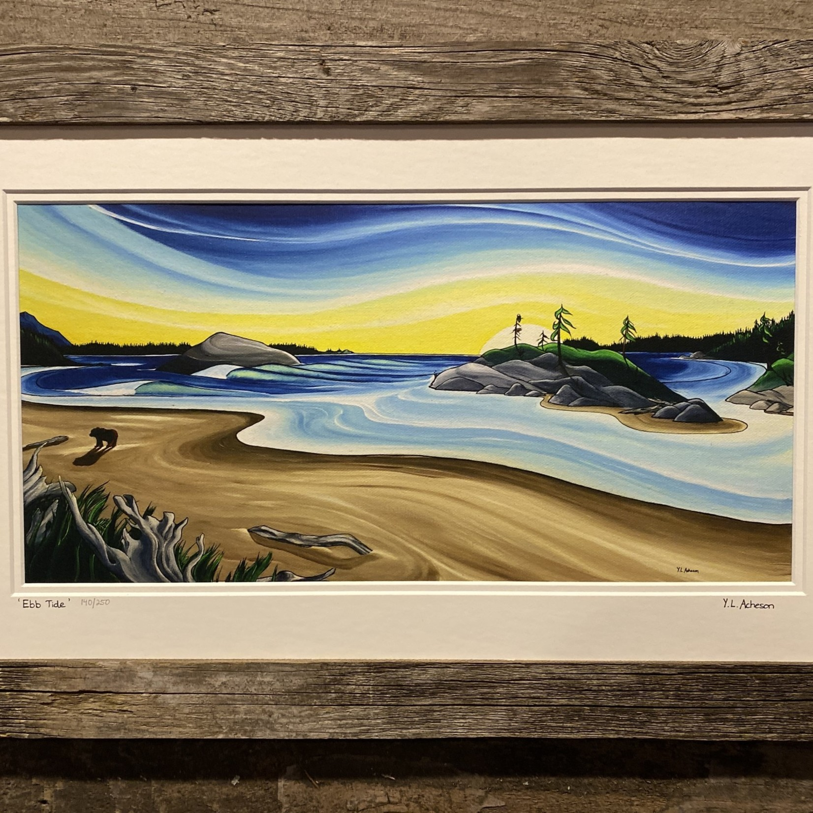 "Local Yvonne Acheson ""Ebb Tide"" Large Framed Print"