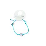 Puravida Wave coin bracelet silver