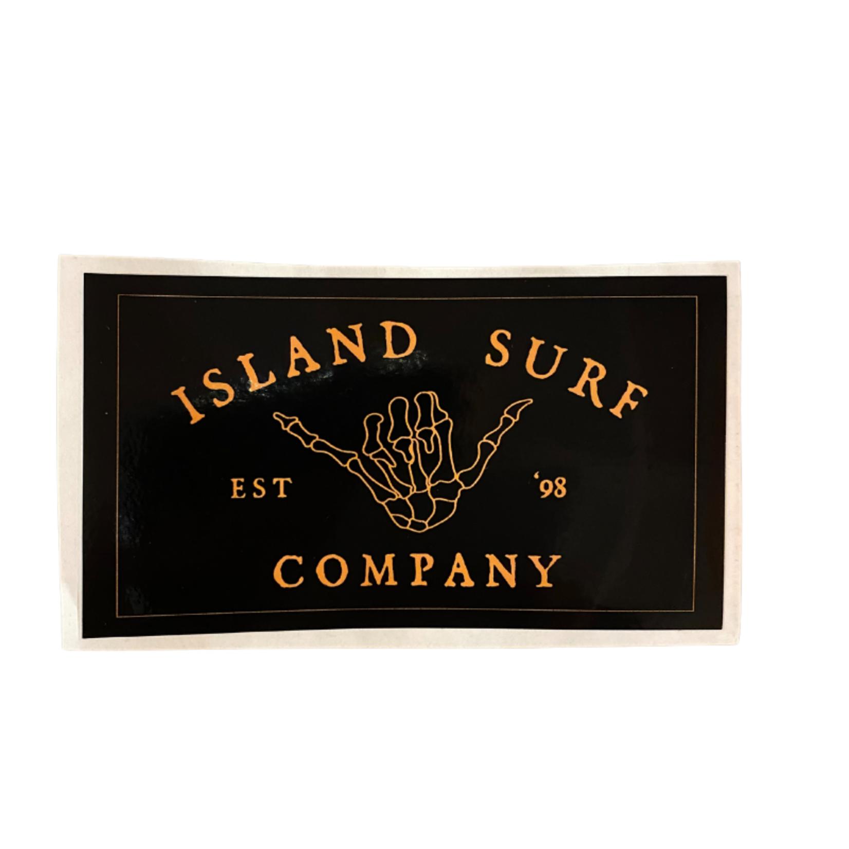 Island Surf Company Shaka Sticker Small