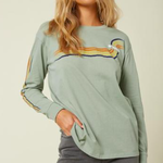 O'Neill O'neill Womens Bronzing Long Sleeved Logo T-shirt.